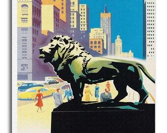 Chicago Print Vintage Travel Poster Retro Home Decor Art xr942