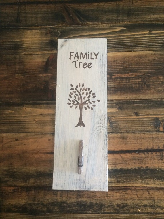Distressed White Family Tree Home Decor Wall By
