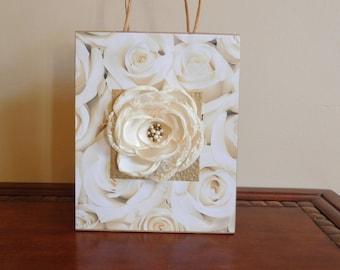 Elegant Wedding Gift Bags : ... gift bag yellow cream and gold gift bag all occasions wedding gift bag