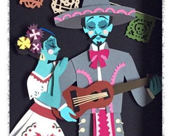 Dia De Los Muertos Print by Amy Duarte