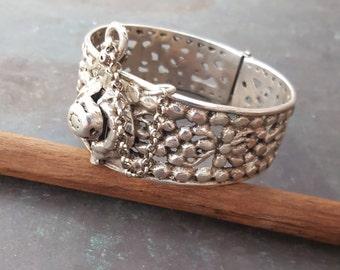 Chaoui,Aures antik massif silver bracelet