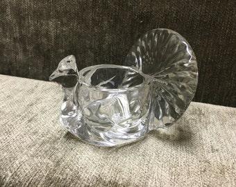 Avon Turkey Votive, Glass Turkey Candle Holder,  Glass Turkey Tealight Holder, Avon Turkey, Avon, 1970s