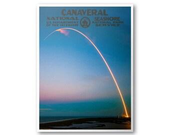 Canaveral National Seashore Travel Poster