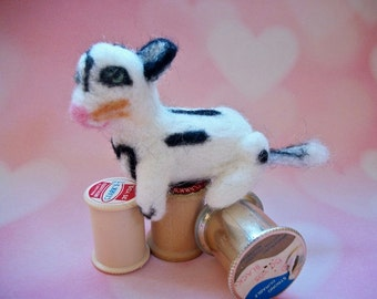 Needle Felted Kitten, Handmade Wool Cat