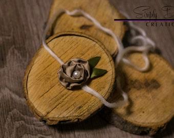 Brown Rosette Tie Back