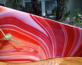 Fused Glass Wave Clock
