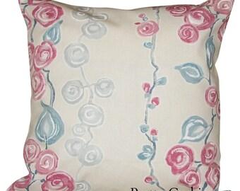 Sanderson Olida Pink & Blue Cushion Cover