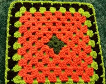 Autumn crochet hot pad