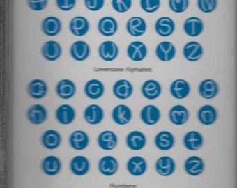 Sizzix ALPHA BUBBLES Alphabet Sizzlits Set