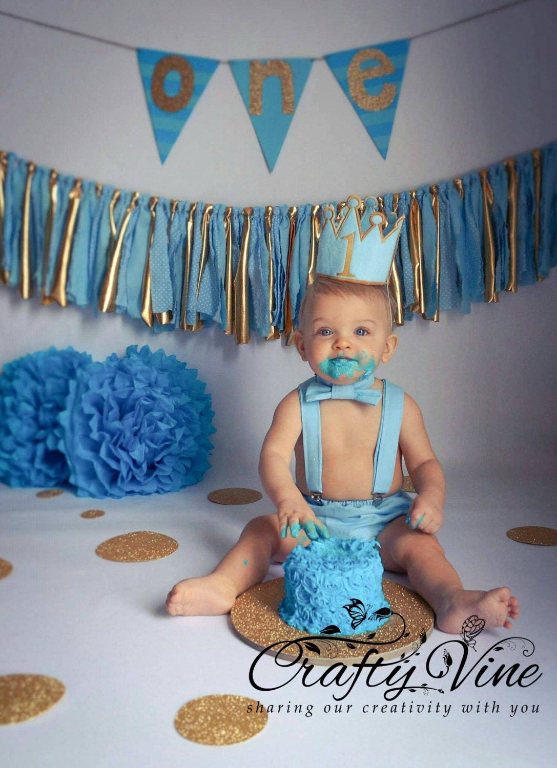 Boys prince cake smash outfit in your choice of color with ...