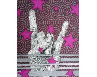 heavy metal  etsy, Birthday card