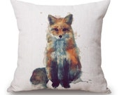 Watercolor Fox - Pillow Cover