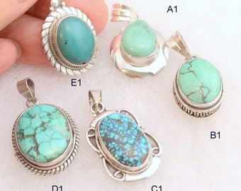 Tibetan Turquoise Pendant. Sterling Silver, 29.00 ea
