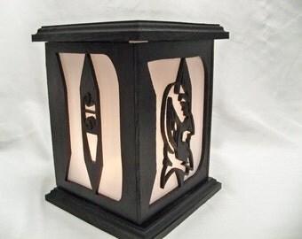 Duke basketball wooden lantern