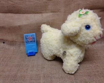 Bantam Musical Mary Had A Little Lamb Wind Up Plush Lamb