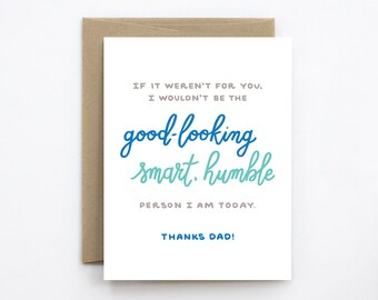 Funny Father's Day Card - Humble