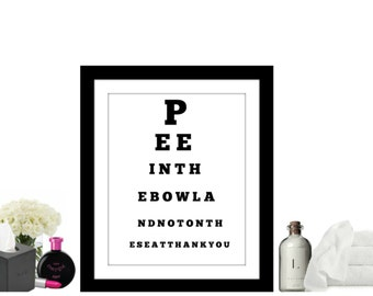 Funny bathroom wall art - black and white bathroom wall decor - funny bathroom sign -  funny bathroom art - bathroom wall art