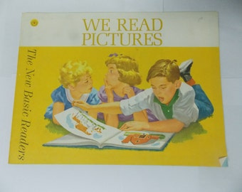 1962 We Read Pictures The New Basic Readers Workbook for Children NEW/ Old Stock