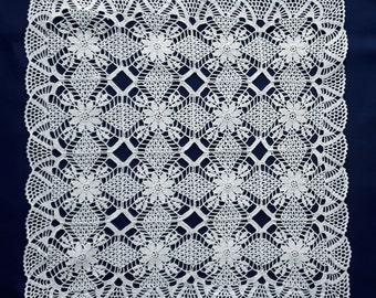 White square crochet doily