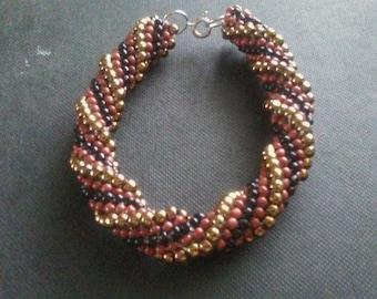 Double Helix Crocheted Bracelet