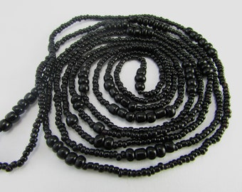 """Classic Long """"Black"""" Beaded Necklace"""