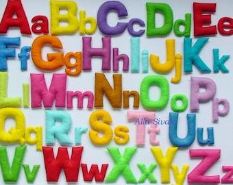 Uppercase alphabet and the lowercase alphabet, Colorful alphabet, Stuffed letters, Alphabet letters, Felt Alphabet Set, Montessori Alphabet