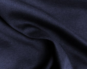 Navy Cotton Spandex Jersey Knit 10 oz Fabric by the Yard #473