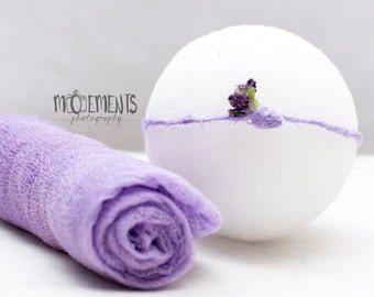 Lavender newborn prop - Purple Cheesecloth - Lavender purple tieback   - lilac