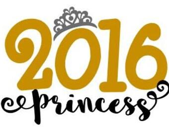2016 Princess Heat Transfer Decal DIY Iron On Decal Celebrate Your Princess!