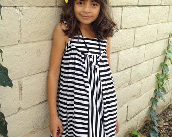 Girls Striped  Dress, Girl Dresses, Striped Dress, Summer Dress, Little Girl Dresses, Dresses -Sizes 4/5, 6/6X, 7/8, 10-Ready to Ship