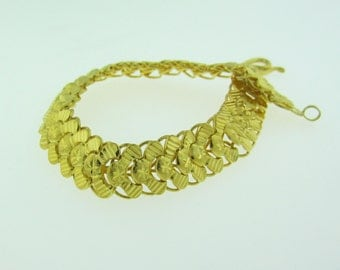 23 K Gold Flexible Link Bracelet