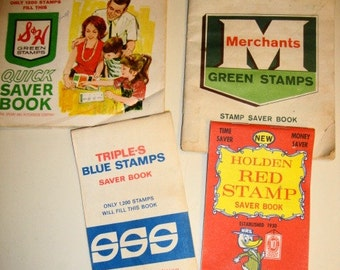 1960s Grocery Store Trading Stamp Book Lot