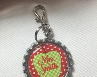 Personalized Teacher Gifts Teacher Zipper Pull Lanyard Backpack Purse Clip Teacher Favors