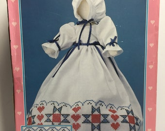 Pillow Case Doll,Wonder Art, Homestead Embroidery, Crewel, Sarah Doll, Doll Making Kit,Folk Doll, Primitive Doll, Pre Made Doll,Doll pattern