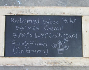 Reclaimed Wood Pallet Chalkboard Rough Finish