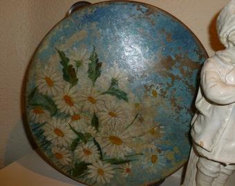 Antique Hand Painted Tambourine