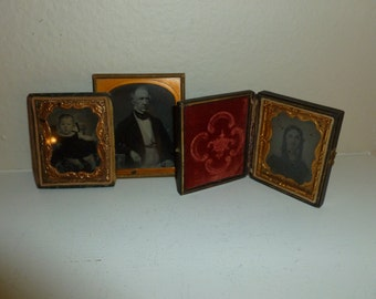 Antique Group Of Ambrotypes / Daguerreotypes