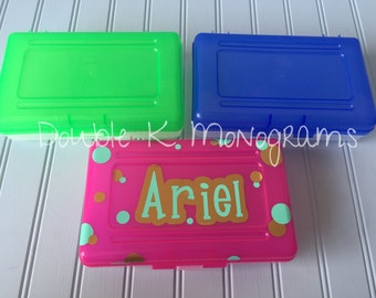 Pencil Box / Pencil Bag / Pencil Case / Personalized Pencil Box