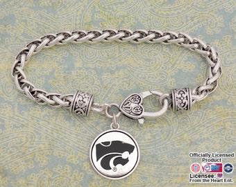Kansas State Wildcats Medallion Clasp Bracelet