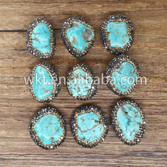wt np012 wholesale natural boho turquoise handmade jewelry