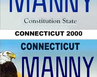 Personalized Connecticut Refrigerator Magnet State License Plate Replica