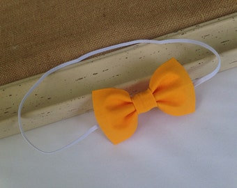 Mustard Yellow Bow Headband - HBMY0001