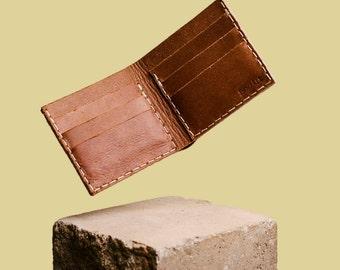 Handmade wallet brown leather