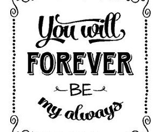 You will forever be my always Decal