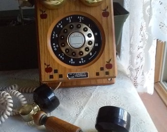 WORKS! The County Line Telephone, modernized old style telephone, Push Button Rotary Style Telephone,Landline House Phone
