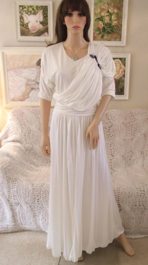 Vintage 70s pronuptia paris dress wedding dress maxi dress for Vintage wedding dresses paris