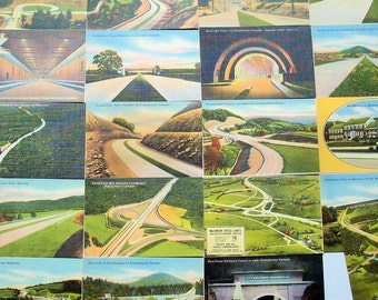 Vintage Photo Highlights of the Pennsylvania Turnpike / Proud New Construction