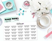 "SNARK SERIES: ""I survived the day, that's enough"" Paper Planner Stickers!"