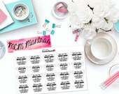 "MCM MANTRAS: ""God Gives His Toughest Battles to His Strongest Soldiers"" Paper Planner Stickers!"