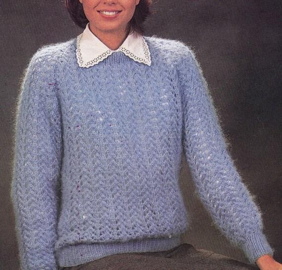 Knitting Pattern Box Jumper : Fuller Figure Vintage Knitting Pattern by LucysPatternBox on Etsy